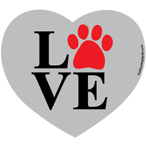 Love Paw Heart Gray $5.00