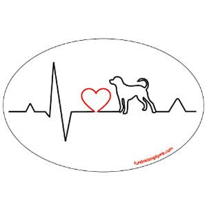 Heartbeat Oval Magnet $5.00