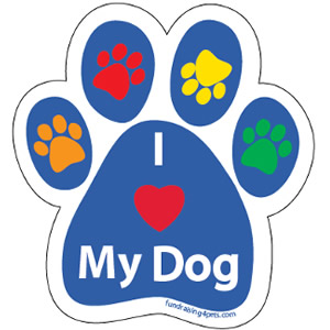 I Love My Dog Magnet $5.00