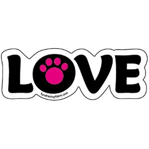LOVE Magnet – Hot Pink $5.00