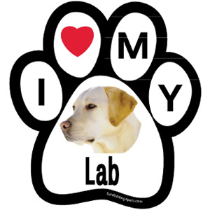 I Love My Lab Magnet $5.00