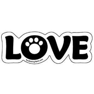 LOVE Magnet – White $5.00
