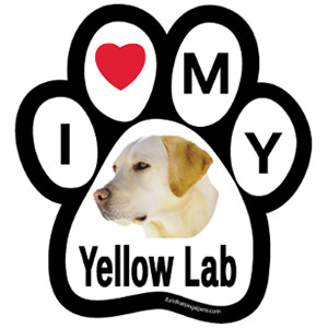 I Love My Yellow Lab Magnet $5.00
