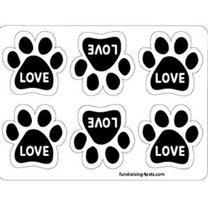 Love Mini Paw Magnets 6pk $5.00