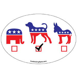 Vote Dog Magnet $5.00